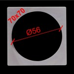 1. Термоквадрат для светильника с круглой лампой 70х70 (внутр.Ø56)