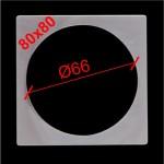 11. Термоквадрат для светильника с круглой лампой 80х80 (внутр.Ø66)