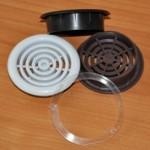 Решетка вентиляционная  d 48 мм (в комплект входит кольцо)