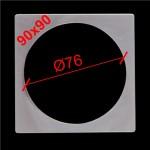 12. Термоквадрат для светильника с круглой лампой 90х90 (внутр.Ø76)