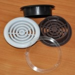 Решетка вентиляционная с кольцом d 48мм